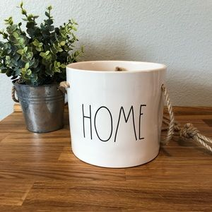 Rae Dunn HOME hanging planter/flower pot